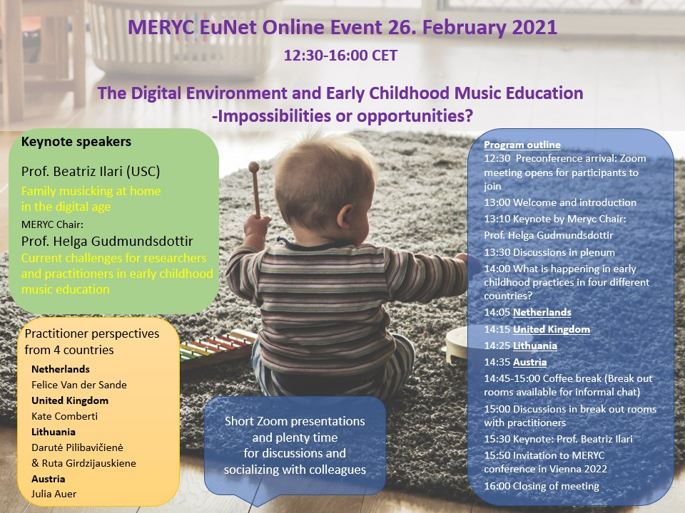 MERYC Online event advertisement and program outline